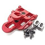 VeloChampion - Cales de pedales Shimano rouges 4.5 degree de liberte angulaire - Rouge Pedal Cleats