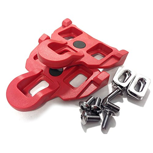VeloChampion Tacchette per Pedale Shimano, flottaggio 4.5 Gradi, Rosso - SPD-SL 105, Ultegra, Dura Ace - Cleats