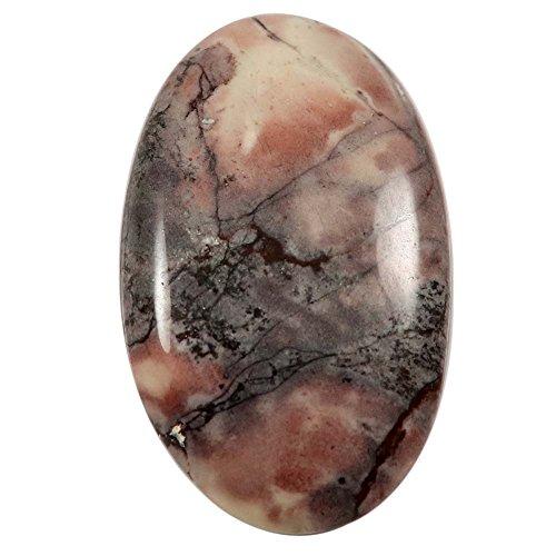 Gems&JewelsHub 43,8–Natur Design Porzellan Exotica Jasper Cabochon Oval Lose Edelstein (Exotica-anhänger)