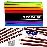 Staedtler–tradizione–Set per schizzi–Matite in grafite, gomma, temperamatite, matita 4H–Custodia [6B]