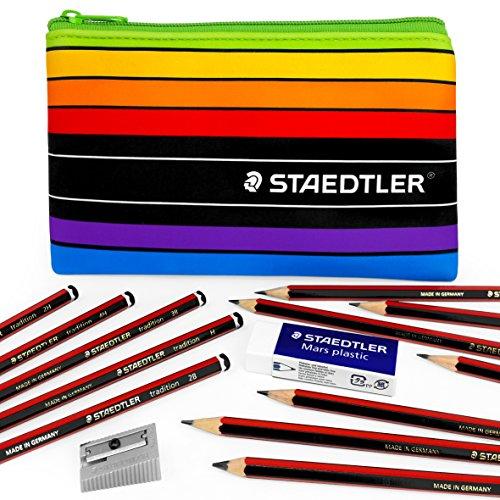 Staedtler–Tradition–Skizzieren Set–Graphit Bleistifte, Radiergummi, Spitzer, und...