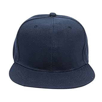 7b5410b7c17 ILU Men s Acrylic Snapback Cap - Blue Free Size  Amazon.in  Clothing ...