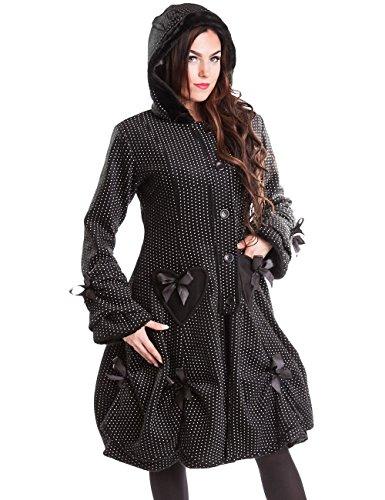 Poizen Industries -  Cappotto  - Maniche lunghe - Donna nero Small