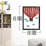 Hongrun 3D-Acryl Wandhalterung An Der Wand Im Wohnzimmer Esszimmer Schlafzimmer Cartoon Kinder Kreativ Dekorative Rahmen, 70 * 52 Cm C