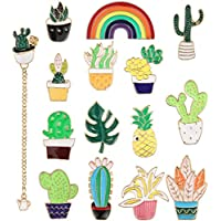 YADOCA 8-15 Pcs Enamel Lapel Pins Set Novelty Space Cat Hat Cactus Cute Brooch Pin for Women Girls Children Clothing Backpack Decoration Gift (Style 1)