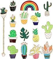 YADOCA 8-15 Pcs Enamel Lapel Pins Set Novelty Space Cat Hat Cactus Cute Brooch Pin for Women Girls Children Cl