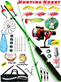 #7: Fishing Spinning Rod,Reel,Accessories Complete Kit (Transparent, 7)