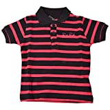 #10: Bio Kid Party Polo Shirt - Black & Radio Pink Y/D Stripe - 1 Ps Pack(7-9 Years)