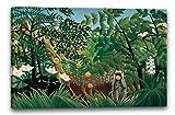 Printed Paintings Leinwand (100x70cm): Henri Rousseau - Exotische Landschaft