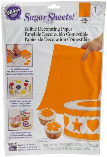 Wilton Solid Orange Sugar Sheet