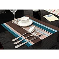 Pauwer Placemats For Kitchen Table Heat Insulation Dining Table Mats  Non Slip Washable Table Place
