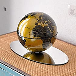 Globo terráqueo giratorio de lujo con soporte de espejo