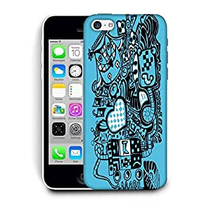 Snoogg Blue Owl Printed Protective Phone Back Case Cover For Apple Iphone 6+ / 6 Plus
