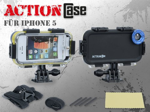 Microelectronics - Custodia ActionCase, antiurto e impermeabile, con pellicola protettiva per display per Apple iPhone 5