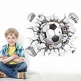 Stickerkoenig 3D Wandtattoo Wandaufkleber Wanddurchbruch Loch Wand Sticker DIY Kinderzimmer Fußball Stadion Fussballer #1487