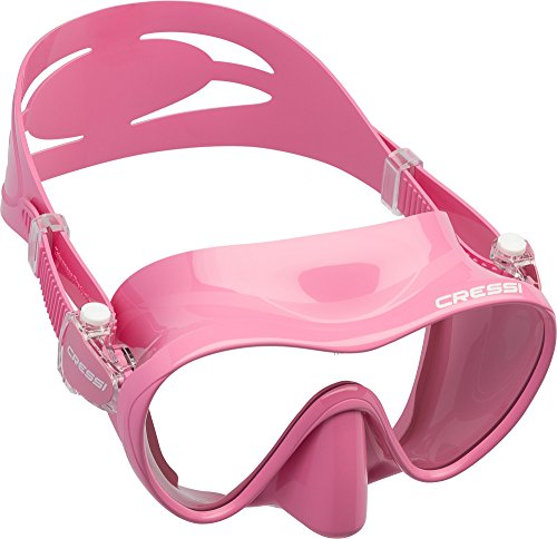 Cressi F1 Masque Plongee Snorkeling Adulte, Technologie Frameless Rose