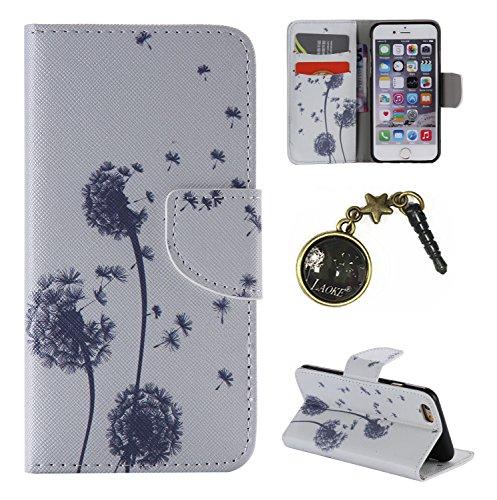 PU Cuir Coque Strass Case Etui Coque étui de portefeuille protection Coque Case Cas Cuir Swag Pour Apple iPhone 6 (4.7 pouces) +Bouchons de poussière (10LY) 13