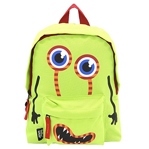 Toito Wear Kinderrucksack Monster Zainetto per bambini 29 Centimeters 5 Verde (Grün/Rot)