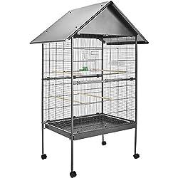 TecTake Jaula para Pájaros Pajarera XXL Pájaro Loros Canarios Periquitos - varios modelos - (con techo II no. 402288)