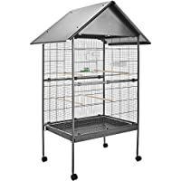 TecTake Voliera gabbia per uccelli grande - modelli differenti - (con tetto | No. 402288)