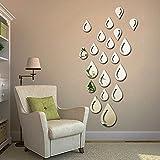 SOMESUN Kreativ Spiegel Aufkleber Wohnkultur Wandaufkleber Tapete Wassertropfen Regentropfen Abnehmbare DIY Acryl 3D Spiegel Wand Aufkleber Aufkleber FüR Zu Hause
