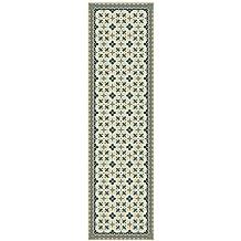 Huella Deco H1012-RU-XS Antique Tappeto Runner Mat Floor, Vinile, 50x100 cm