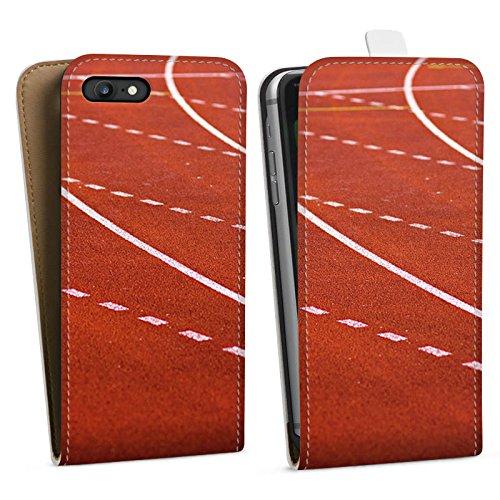 Apple iPhone X Silikon Hülle Case Schutzhülle Rennen Laufbahn Sprinten Downflip Tasche weiß