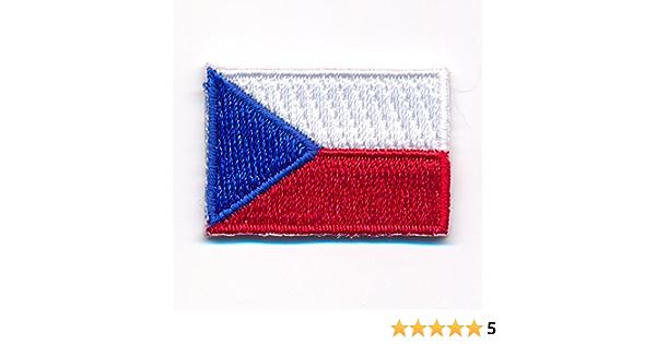 60 X 35 Mm Tschechien Flagge Czech Republic Prag Patch Aufnäher Aufbügler 0922 B Auto