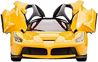 Saffire Remote Controlled Super Car with Opening Doors, Yellow