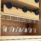 Gläserhalter Gläserschiene Eisen Weinglashalterung Hangers Rack Stielgläser Halter mit Schrauben für Bar Zuhause Cafe
