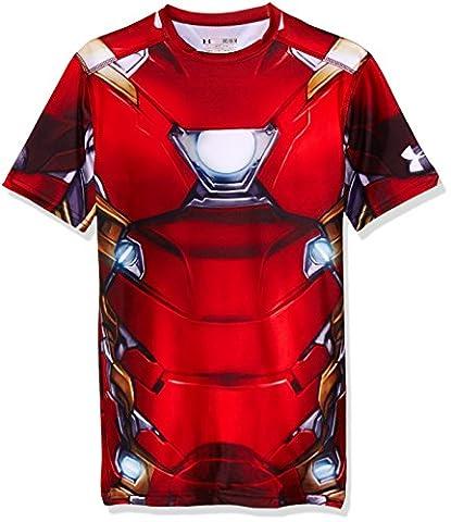 Under Armour Herren T-Shirt Iron Man Suit SS M granatrot