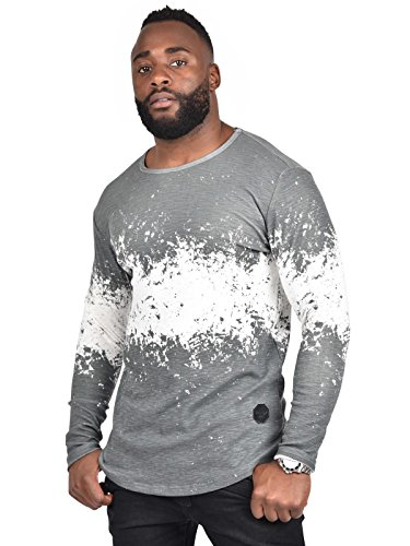 Tee shirt tie and dye manches longues oversize homme Project X Paris - S, Gris anthracite