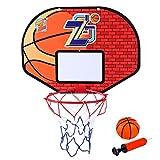 MRKE Basketballkorb Tür, Kinder Indoor Spielzeug Basketballkorb fürs Zimmer, Büro, Kinderzimmer - mit Basketball und Inflator (1)