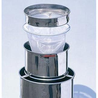 Lega Stainless Steel Double Honey Strainer, 3Sections, Stainless Rays Coarse Filter Nylon Bag Filter Stainless Rays Kettle Ø350mm 7