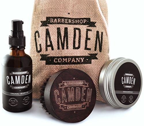 Camden Barbershop Company, Deluxe Bartpflege, Bartbuerste, Bartoel & Bartwachs