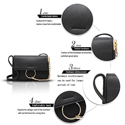 Sunas 2017 estate nuova borsa dell'unità di elaborazione del sacchetto del messaggero della spalla della borsa delle signore nero