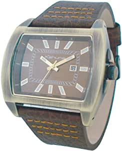 Kahuna Mens Watch KUS-0011G with Brown Dial and Brown Leather Strap