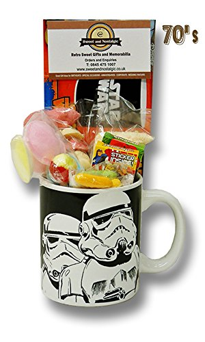 Star Wars Storm Trooper Mug with a portion of 1970's Retro Sweets