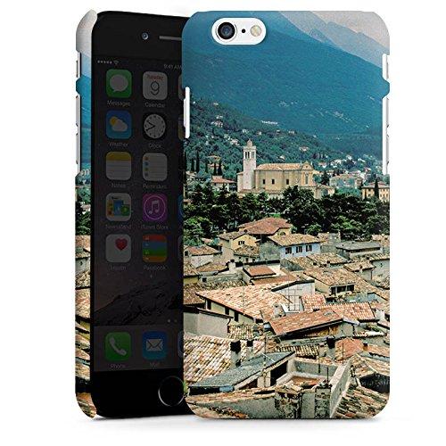 Apple iPhone X Silikon Hülle Case Schutzhülle Dächer Stadtpanorama Häuser Premium Case matt