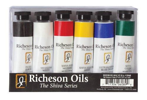 Jack Richeson 37-ml Künstler Öl Farben, Set von 6 -