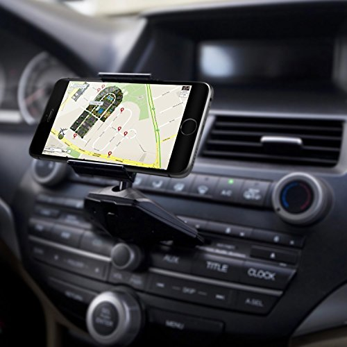YCTC Universal 360 Grad Rotation CD-Schlitz KFZ Handy Halterung für iPhone X 7 Plus Samsung Galaxy S8 + Note 8 Moto LG Huawei Sony HTC Smartphone GPS