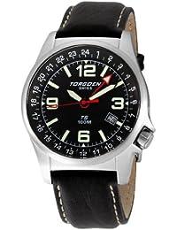 Torgoen - T05101 - Montre d'aviateur Homme - Quartz analogique - Bracelet en Cuir noir