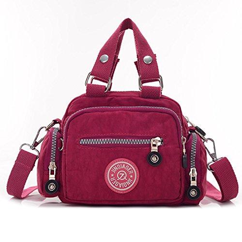 MeCooler Damen Taschen Umhängetasche Designer Sporttasche Kuriertasche Mädchen Handtasche Messenger Bag Schultertasche für Strandtasche Wasserfeste Reisetasche Rot One