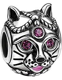 SOUFEEL Talisman Charms Beads Anhänger 925 Sterling Silber mit SWAROVSKI Kristall für europäische Armbände
