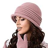 Kamea Salerno Dame Hut Kopfbedeckung Winter Herbst, Violett,Uni