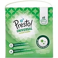 Marque Amazon- Presto! Lessive en poudre Universal, 120 Lavages (3 packs de 40 lavages)