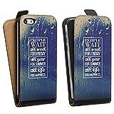DeinDesign Apple iPhone 5c Étui Étui à Rabat Étui magnétique People Wait