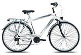 Legnano Ciclo 420 Amalfi, City Bike Uomo, Bianco/Grigio, 48