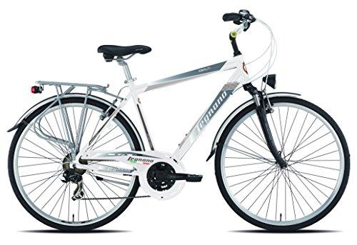 Legnano Ciclo 420 Amalfi, City Bike Uomo, Bianco/Grigio, 52