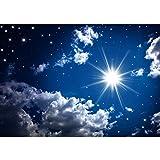 Vlies Fototapete PREMIUM PLUS Wand Foto Tapete Wand Bild Vliestapete - ROMANTIC STARS - Sternenhimmel Stars Sterne Leuchtsterne Nachthimmel - no. 023, Größe:400x280cm Vlies